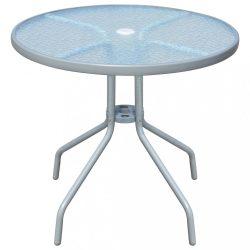 szürke acél bisztró asztal 80 x 71 cm