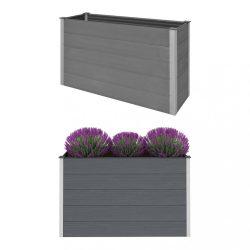 szürke WPC kerti magaságyás 150 x 50 x 91 cm