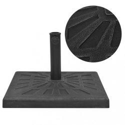 négyszög alakú, fekete gyanta napernyő talp 19 kg