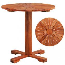 tömör akácfa bisztró asztal 70 x 70 cm