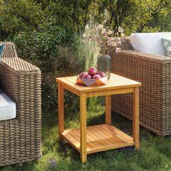 tömör akácfa kisasztal 45 x 45 x 45 cm