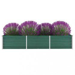 zöld horganyzott acél kerti magaságyás 240 x 80 x 45 cm
