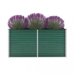 zöld horganyzott acél kerti magaságyás 160 x 40 x 77 cm