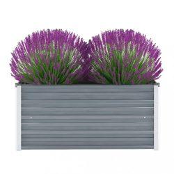 szürke horganyzott acél kerti magaságyás 100 x 40 x 45 cm