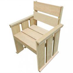 impregnált fenyőfa kültéri szék