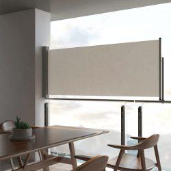 krémszínű behúzható oldalsó terasz napellenző 100 x 300 cm