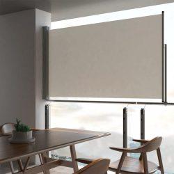 krémszínű behúzható oldalsó terasz napellenző 140 x 300 cm
