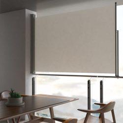 krémszínű behúzható oldalsó terasz napellenző 160 x 300 cm