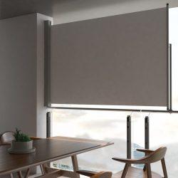 szürke behúzható oldalsó terasz napellenző 160 x 300 cm