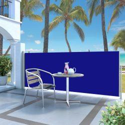 kék behúzható oldalsó napellenző 120 x 300 cm