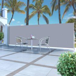 krémszínű behúzható oldalsó napellenző 160 x 500 cm