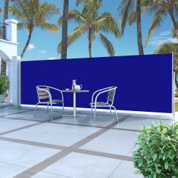 kék behúzható oldalsó napellenző 160 x 500 cm