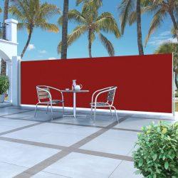 piros behúzható oldalsó napellenző 160 x 500 cm