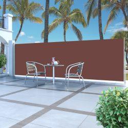 barna behúzható oldalsó napellenző 160 x 500 cm