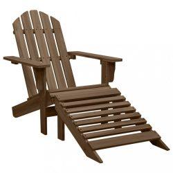 barna fa kerti szék zsámollyal