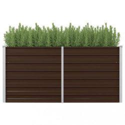 barna kerti magaságyás horganyzott acélból 160 x 80 x 77 cm