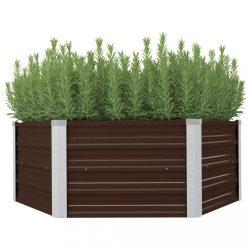 barna kerti magaságyás horganyzott acélból 129 x 129 x 46 cm