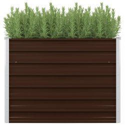 barna kerti magaságyás horganyzott acélból 100 x 100 x 77 cm