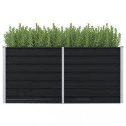 antracitszürke horganyzott acél kerti magaságyás 160x80x77 cm