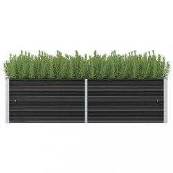 antracitszürke horganyzott acél kerti magaságyás 160x40x45 cm