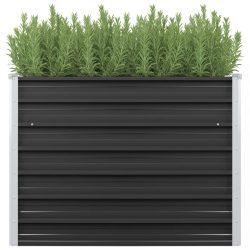 antracitszürke horganyzott acél kerti magaságyás 100x40x77 cm