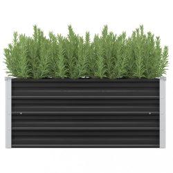 antracitszürke horganyzott acél kerti magaságyás 100x40x45 cm