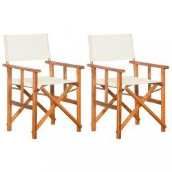 2 db tömör akácfa rendezői szék