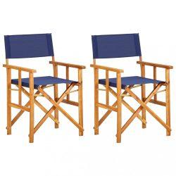 2 db kék tömör akácfa rendezői szék