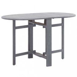 szürke tömör akácfa kerti asztal 120 x 70 x 74 cm