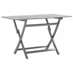 tömör akácfa összecsukható kerti asztal 120 x 70 x 75 cm