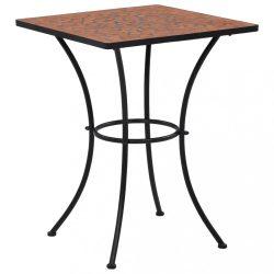 terrakotta mozaikos bisztróasztal 60 cm