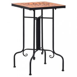 terrakotta kerámia mozaikos kisasztal 60 cm
