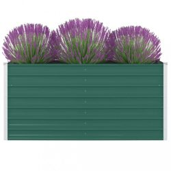 zöld horganyzott acél kerti magaságyás 160 x 80 x 77 cm