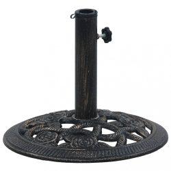 fekete és bronzszínű öntöttvas napernyőtalp 9 kg 40 cm