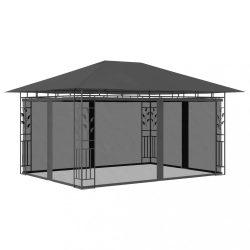 antracitszürke pavilon szúnyoghálóval 4 x 3 x 2,73 m 180 g/m?