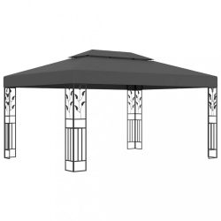 antracitszürke dupla tetős pavilon 3 x 4 m