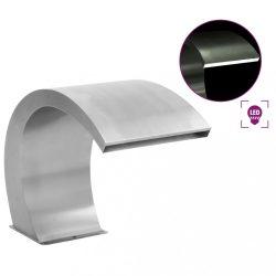 rozsdamentes acél medence szökőkút LED-ekkel 30 x 60 x 45 cm