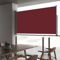 piros behúzható oldalsó terasz napellenző 160 x 300 cm