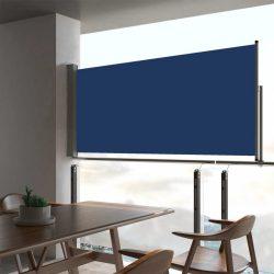 kék kihúzható oldalsó terasz napellenző 60 x 300 cm