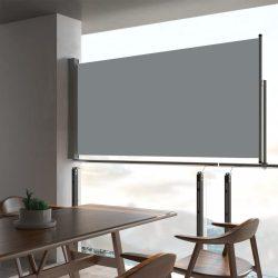 szürke kihúzható oldalsó terasz napellenző 80 x 300 cm
