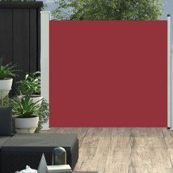 piros kihúzható oldalsó teraszi napellenző 170 x 300 cm