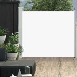 krémszínű kihúzható oldalsó teraszi napellenző 100 x 300 cm