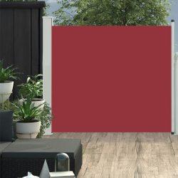 piros behúzható oldalsó teraszi napellenző 100 x 300 cm