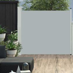 szürke kihúzható oldalsó teraszi napellenző 100 x 300 cm