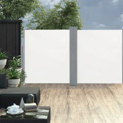 krémszínű behúzható dupla teraszi napellenző 170 x 600 cm