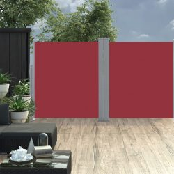 piros behúzható oldalsó napellenző 170 x 600 cm