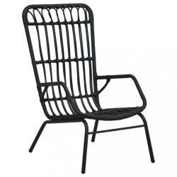 fekete polyrattan kerti szék