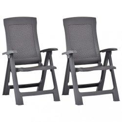 2 db mokka dönthető műanyag kerti szék