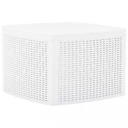 fehér műanyag kisasztal 54 x 54 x 36,5 cm