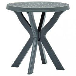 zöld műanyag bisztróasztal ?70 cm